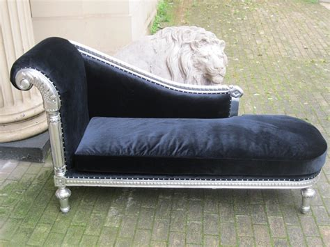 chaise cagne chic mahogany ornate shabby chic silver leaf black