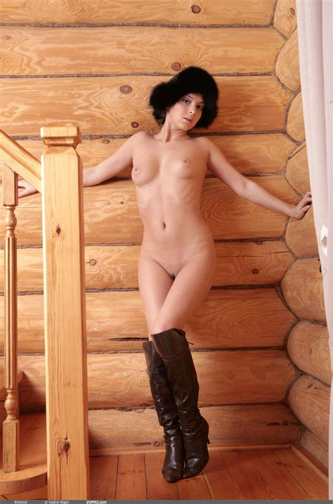 Naughty Russian Girl In Sexy Black Boots Wants You To See Her Tits XBabe
