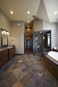 Slate flooring pictures gold blush slate tile bathroom for The ingenious ideas for bathroom flooring