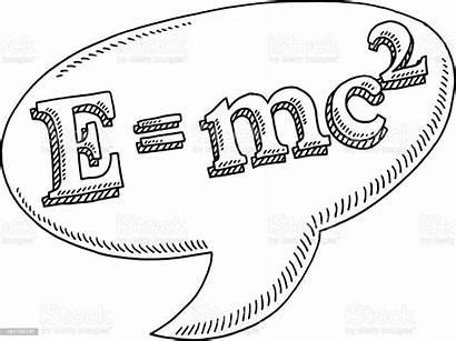 Mc2 Bubble Speech Drawing Mc Einstein Dessin