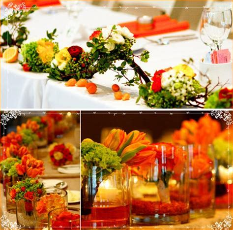 yellow and orange wedding decorations help fiance wants orange and green wedding ideas planning project wedding forums