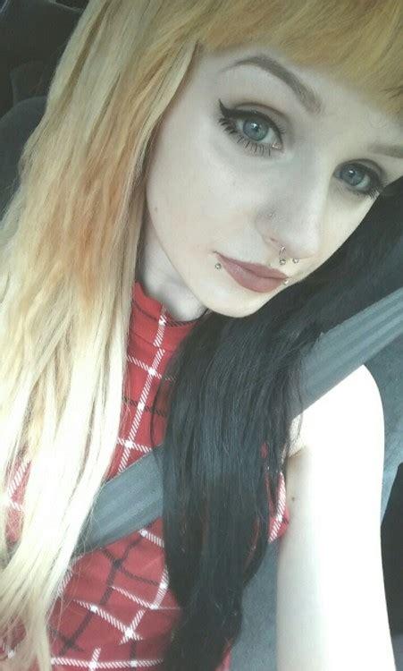 Half Blue Half Blonde Hair Tumblr