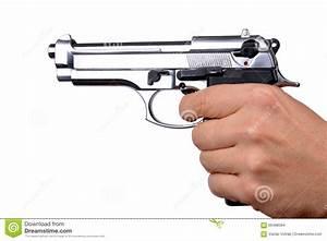 Hand Holding Gun Stock Photo - Image: 66498394