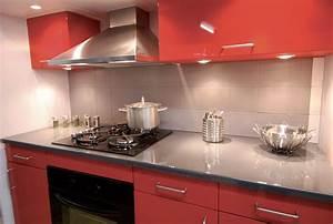 cuisine rouge et grise pas cher sur cuisinelareduccom With cuisine rouge et grise