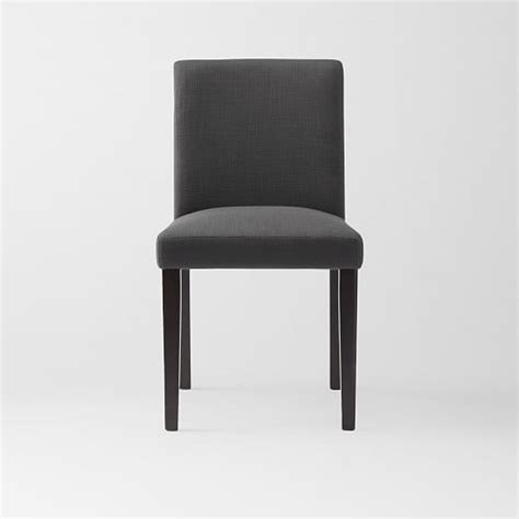 porter upholstered dining chair iron west elm