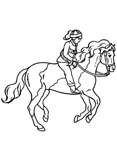 Paardrijden Kleurplaat by Sport Kleurplaat Paardrijden
