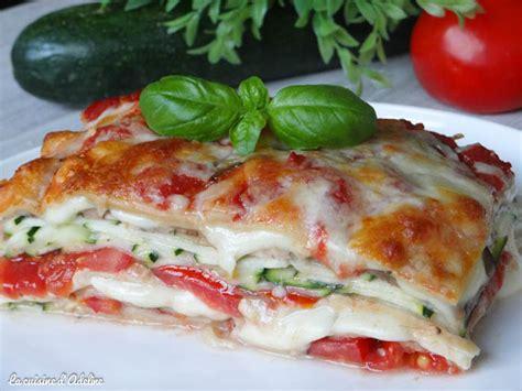 lasagnes végétariennes aux courgettes tomates et