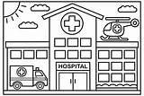 Hospital Coloring Kolorowanki Designed Architecture Sheets Well Colorier Enfants Druku Traktory A4 Coloringpagesfortoddlers Drow Coloriage Reine Neiges Maison Craft Kindergarten sketch template