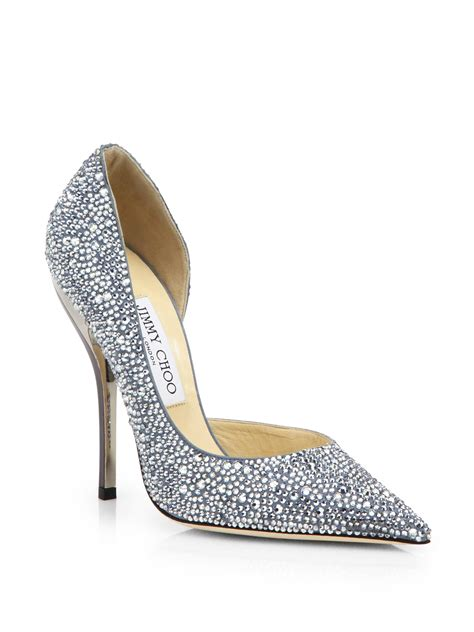 jimmy choo whistler swarovski crystal covered suede