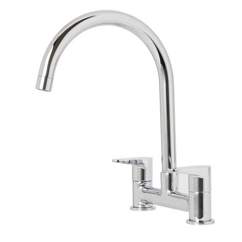 kitchen sink taps b and q cooke lewis gordale chrome finish kitchen bridge mixer 9577