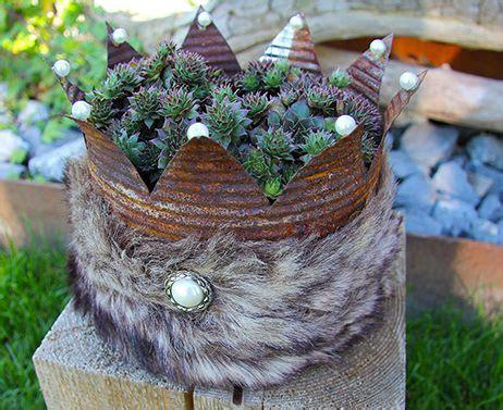 krone basteln erwachsene krone aus rostiger konservendose quot yeti quot www manusfaktur info dosenliebe krone basteln