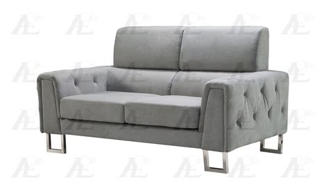 Gray Tufted Loveseat by American Eagle Ae2369 Gray Tufted Sofa And Loveseat Set