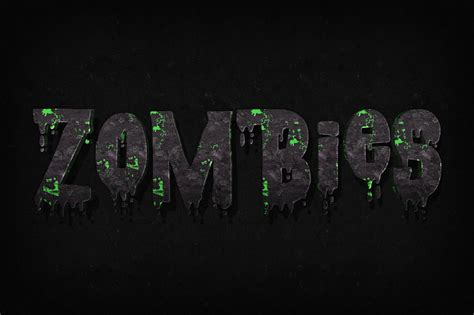 zombie text photoshop ojpg