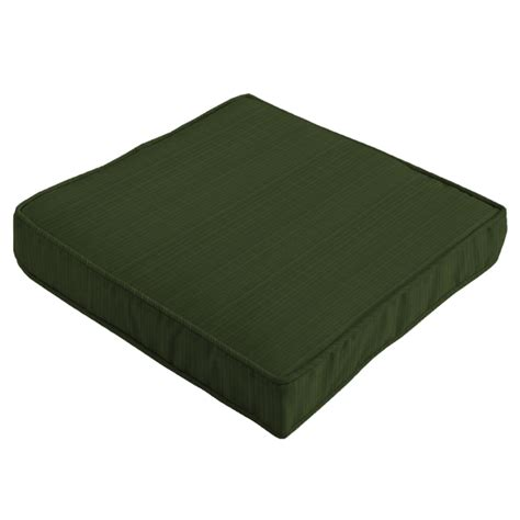 cotswold teak small seat pad cushion in green