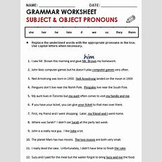 Subject And Object Pronouns  All Things Grammar