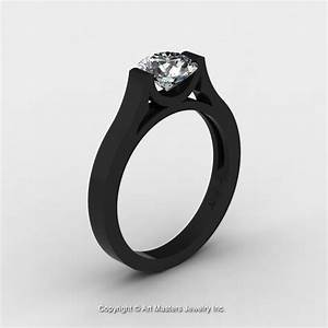 14k black gold elegant and modern wedding or engagement With modern wedding rings for women