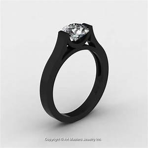 14k black gold elegant and modern wedding or engagement With modern wedding rings for women