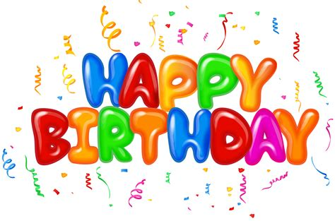 Happy Birthday Text Decor Png Clip Art Image Gallery