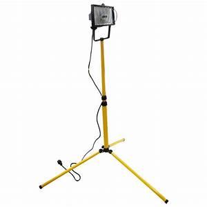 Projecteur De Chantier : projecteur sur pied de chantier tibelec 400w t l scopique ~ Edinachiropracticcenter.com Idées de Décoration