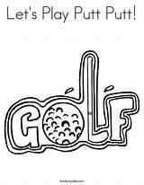 Coloring Golf Putt Let Designlooter sketch template