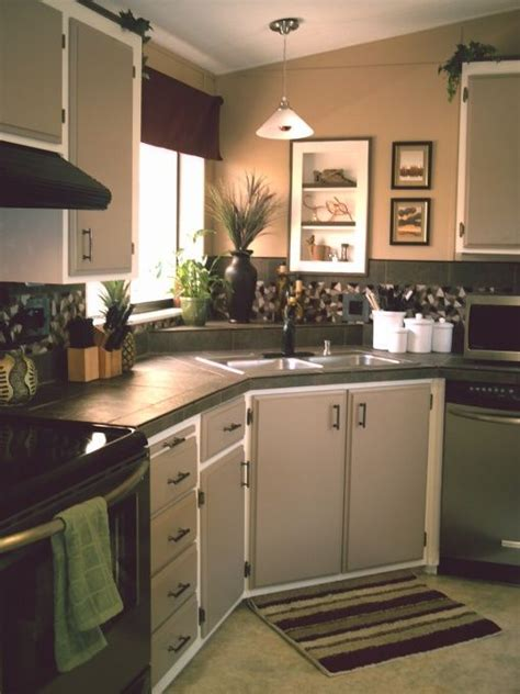 budget kitchen makeover mobile home  dollars diy wow