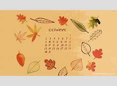 Fondo de pantalla calendario octubre 2017 Paperblog