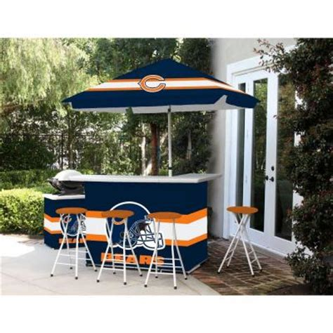 best of times chicago bears all weather patio bar set with