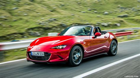 mazda mx  roadster color soul red crystal front