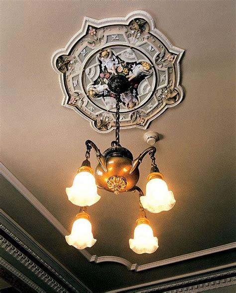 angel  birds  flowers ceiling medallion