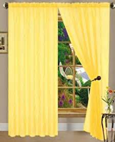 amazon com bright yellow linda sheer voile panel curtain