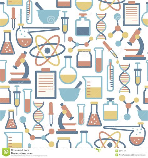 Cute Cartoon Wallpaper Backgrounds Science Pattern Stock Vector Illustration Of Educational 32763491