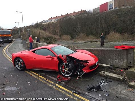 Ferrari 458 With Top Speed Of 240mph Is Wrecked When It