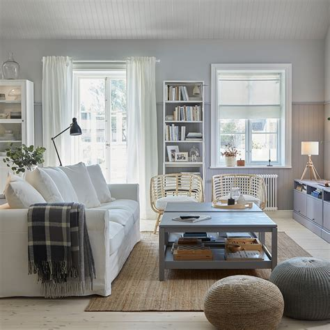 bright traditional  coordinated living room ikea