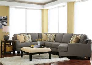Sectionals With Cuddler Chaise by Alabama Furniture Market Chamberly Alloy Cuddler End Sectional