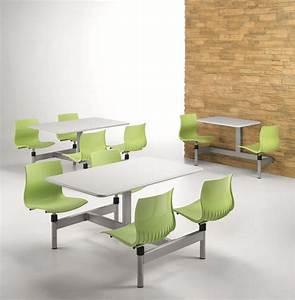Tisch Mit 4 Stühlen : rechteckigen tisch mit 4 festen st hlen f r kantine idfdesign ~ Frokenaadalensverden.com Haus und Dekorationen