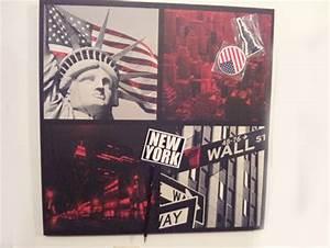Tableau New York Ikea : chambre drapeau americain et dragon ball ~ Nature-et-papiers.com Idées de Décoration