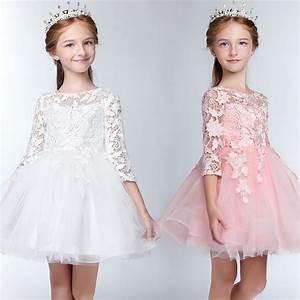 Robe De Demoiselle D Honneur Fille : robe blanche rose de c r monie fille demoiselle d 39 honneur ~ Mglfilm.com Idées de Décoration