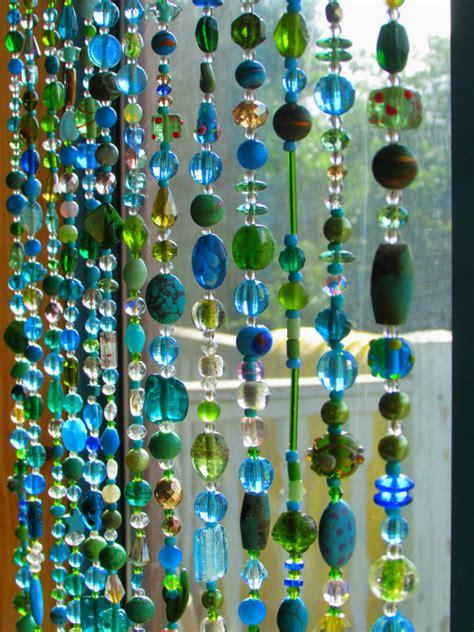 beaded curtain multicolor glass beaded suncatcher by