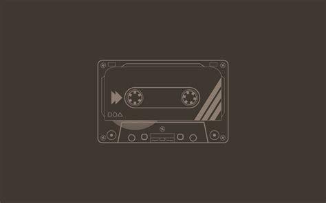 wallpaper flatdesign minimalism cassette artwork