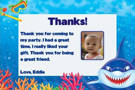 shark photo   cards personalized party invites