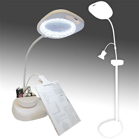 magnifying floor l needlework led magnifying floor l with clip arm and tray create