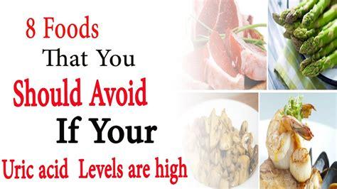 uric acid foods avoid levels should