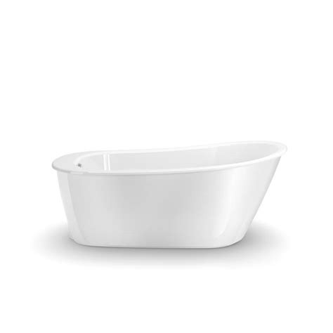 Maax Freestanding Tub by Shop Maax Sax White Gelcoat And Fiberglass Oval