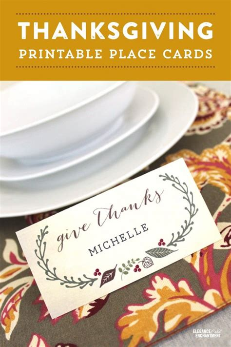 printable thanksgiving place cards thanksgiving
