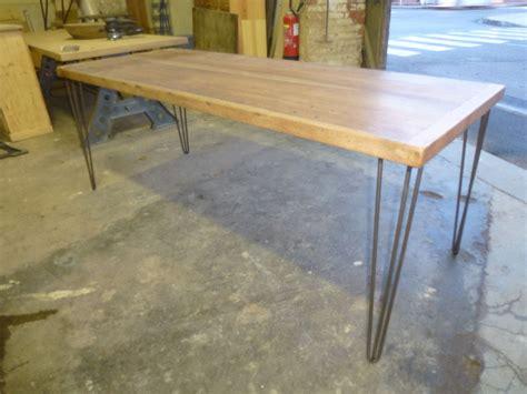 table de cuisine pieds épingle bois exotique robin sicle