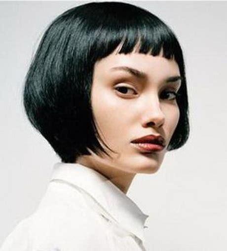 coiffure frange courte