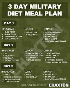 Printable Military Diet Meal Plan Military Diet Meal