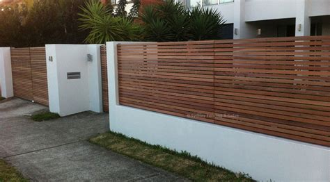 timber slats fences sfg sydney fencing  gates