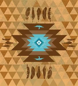 Vector Colorful Decorative Ethnic Native Americans ...