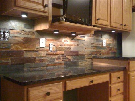 slate backsplash tiles for kitchen this slate tile backsplash is shown with uba tuba